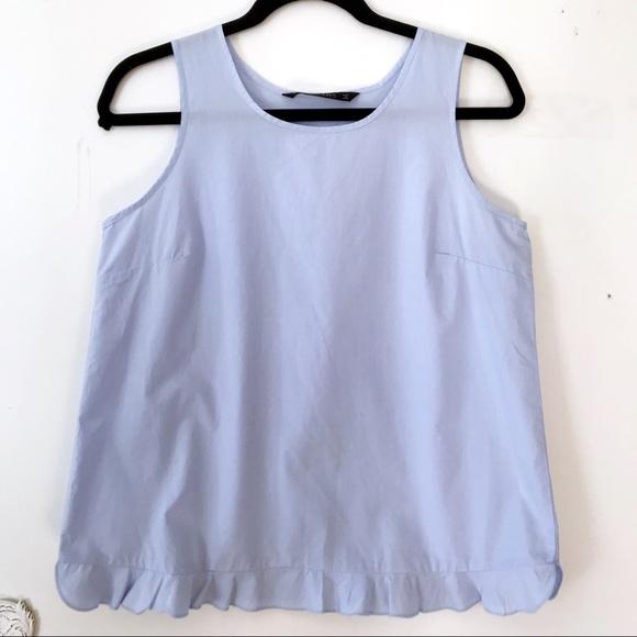 Light Blue Cotton Tank Dress